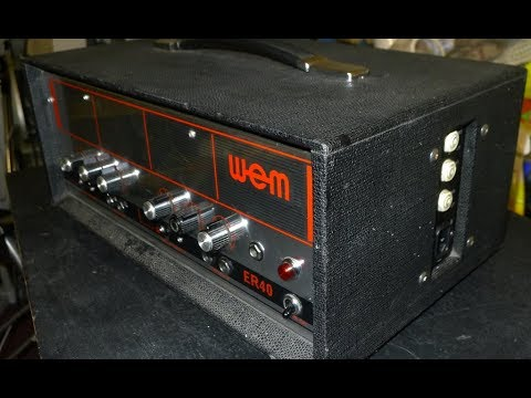 WEM ER40 Amplifier from 1971. Service, test and sound check.