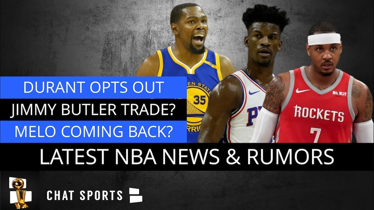 NBA Rumors On Kevin Durant, Jimmy Butler & Rockets, Carmelo Anthony Return  & Knicks Free Agency?