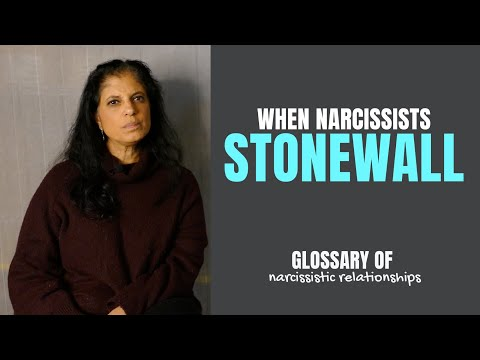 """What Is """"stonewalling""""? (Glossary Of Narcissistic Relationships)"""