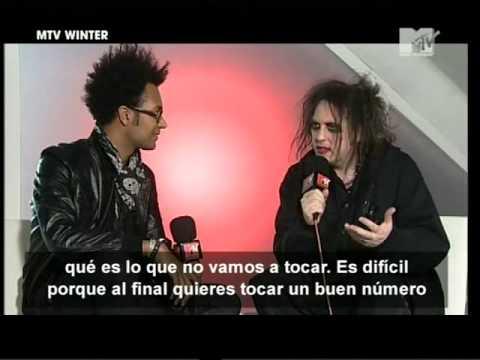 The Cure   MTV Winter 2008 entrevista robert smith subtitulada