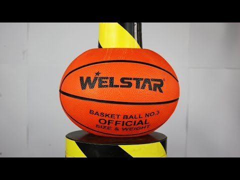 Experiment Basketball And Toys VS Hydraulic Press | The Crusher