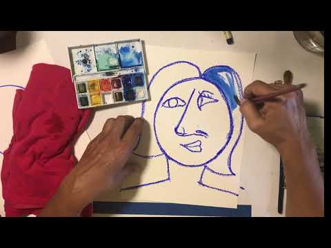 How to make a beautiful water color master piece using Picasso's Cubism method