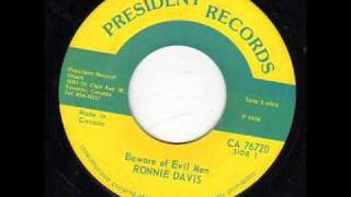 Ronnie Davis - Beware Of Evil Men