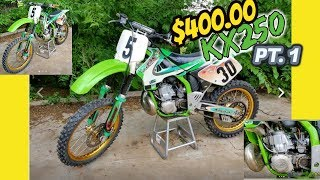 $400.00 KX250 Build Pt. 1 Buying the Bike and Parts
