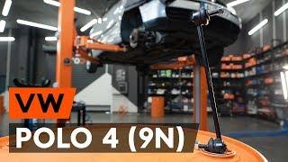 Montáž predné vpravo Vzpera stabilizátora VW POLO: video príručky