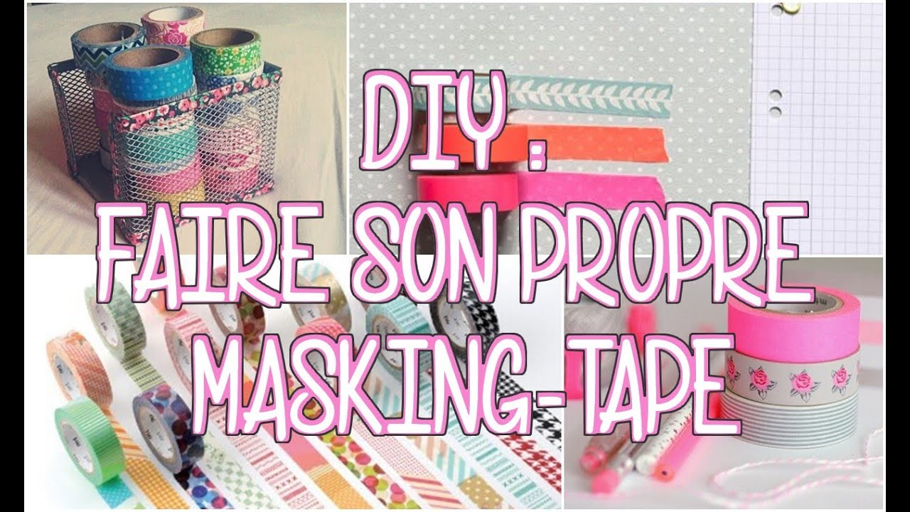 Diy faire son masking tape youtube - Comment decorer sa chambre pour noel ...