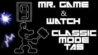 Mr. Game & Watch Classic Mode TAS (Very Hard, No Damage) - SSBM