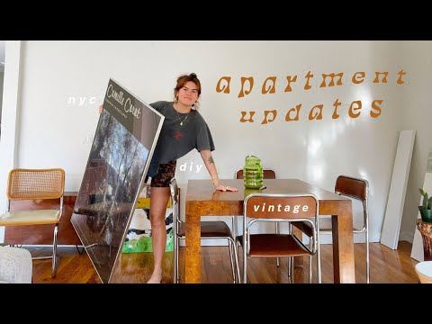 NYC Apartment Updates Vlog: online vintage, rearranging & new pieces