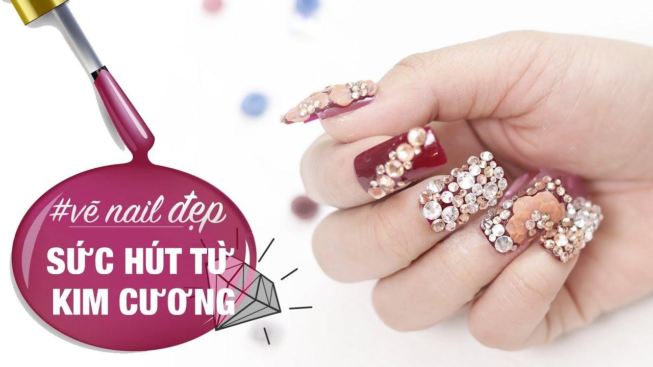 Nail đẹp 2: Mẫu nail màu đỏ SỨC HÚT TỪ KIM CƯƠNG cho những quý cô ...