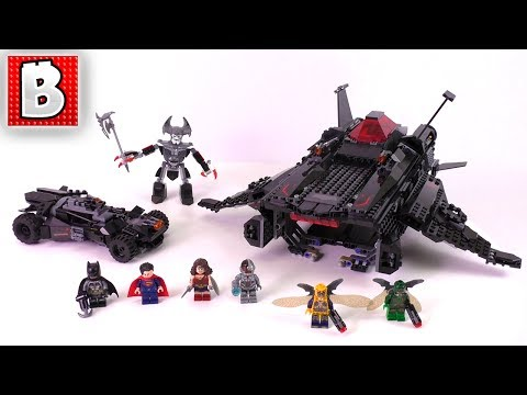 LEGO Justice League Flying Fox: Batmobile Airlift Attack  Set 76087 | Unbox Build Time Lapse Review