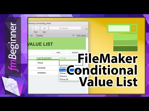 FileMaker Conditional Value List