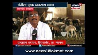 Goat Farming - बंदीस्त मेंढपाळचा व्यावसाय करणारे बुलढाण्यातील दादाराव हटकर यांची यशोगाथा
