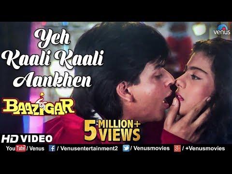 Yeh Kaali Kaali Aankhen | Baazigar | Shahrukh Khan & Kajol | HD VIDEO | 90's Bollywood Hindi Song