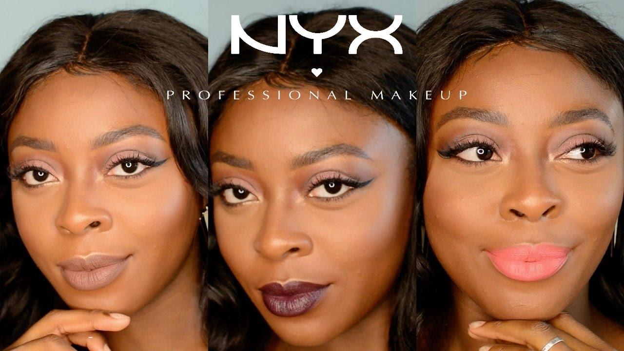 NYX Liquid Suede in Downtown Beauty Brown matte liquid ...  Nyx Matte Lipstick Sierra Dark Skin