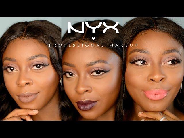 NEWER NYX Soft Matte Lip Cream Swatches |Dark Skin/WOC| Temi O.