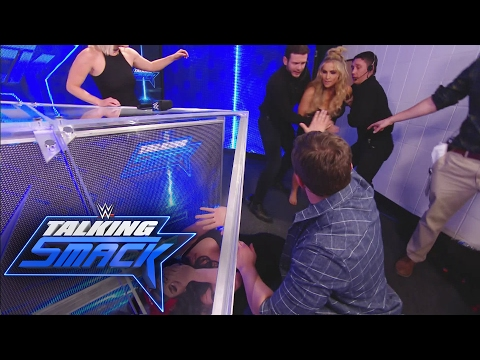 Natalya attacks Nikki Bella: WWE Talking Smack, Feb. 7, 2017