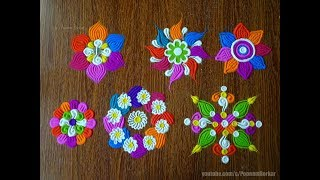 Learn basic techniques to draw rangoli using a fork | Easy rangoli designs by Poonam Borkar