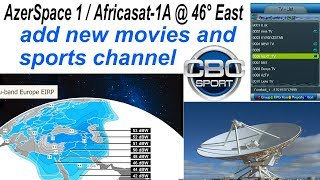Latest Update Full Channel List 2019 Add New Movies Sports Channel AzerSpace 1 / Africasat-1A
