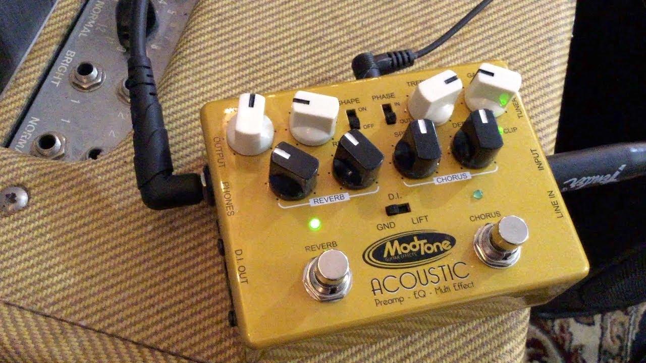 Modtone Acoustic Preamp EQ Multi Effect