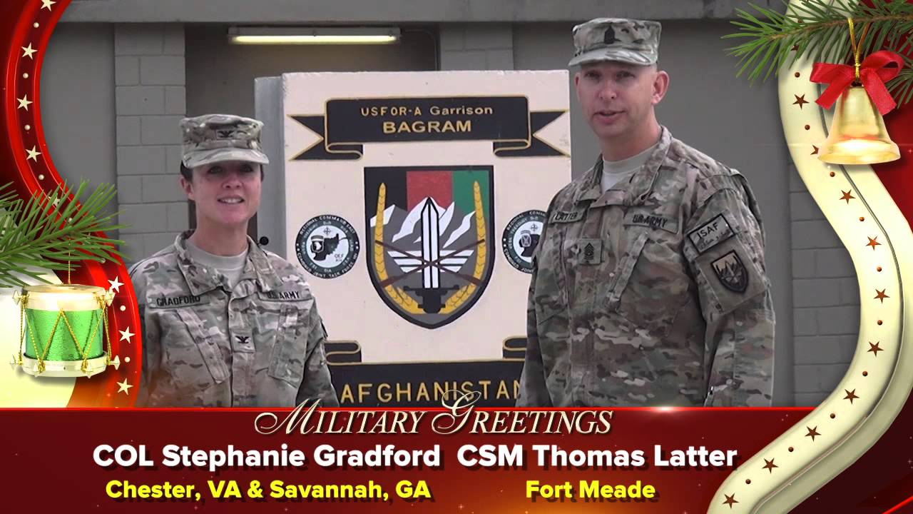 Holiday Greetings From Csm Thomas Latter Youtube
