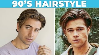 90s VINTAGE HAIRSTYLE (Curtains) | Middle Part Men's Haircut | Alex Costa