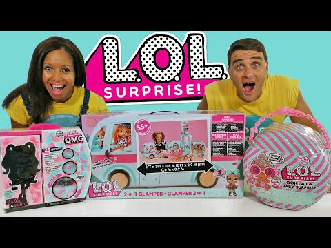 LOL Surprise Glamper & Toy Unboxing Party !     Toy Review    Konas2002