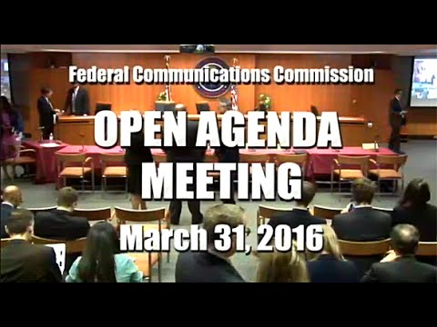 Open Commission Meeting - March 2016