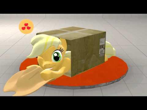 [SFM Ponies] Blue Team sliding into a box