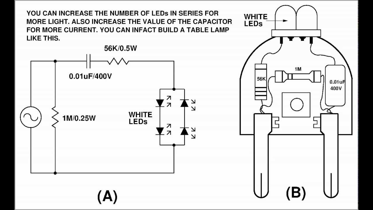 Simple White LED Night Lamp / Home Made White LED Night Lamp
