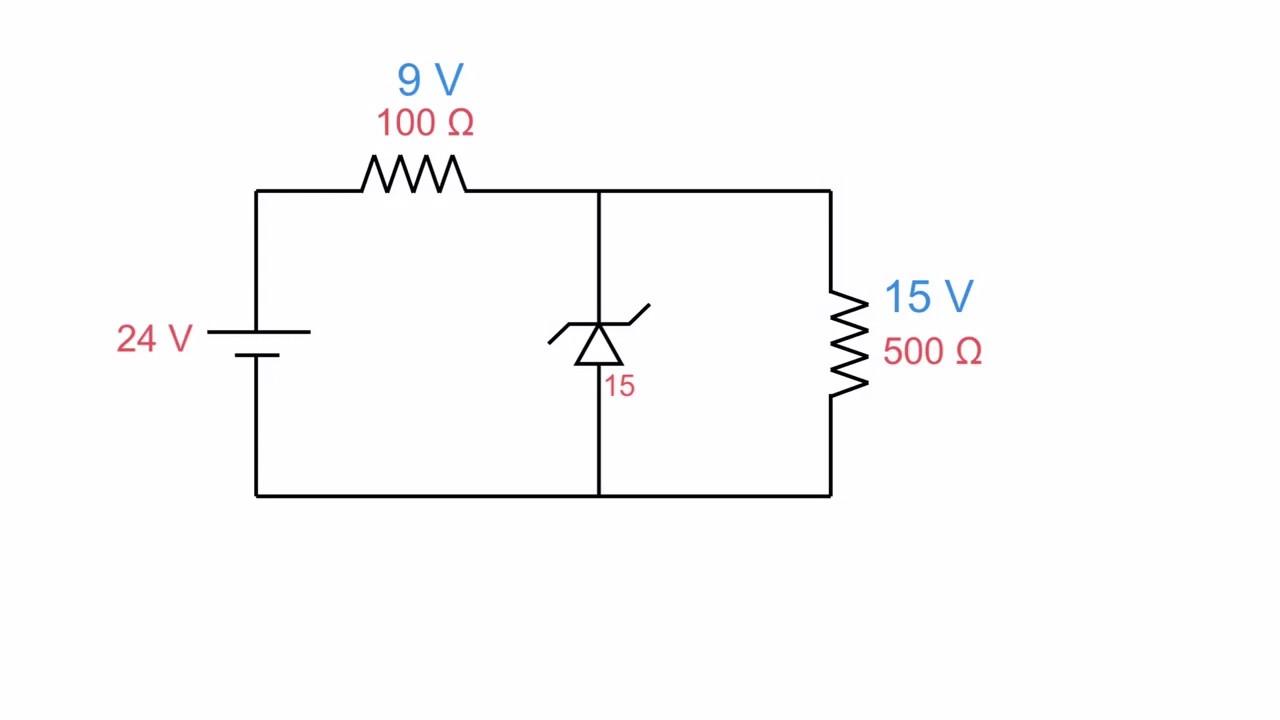 Zener as a voltage regulator