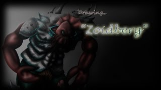 Drawing Zoidberg, the Warrior (Speed Painting)