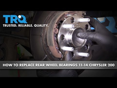 How to Replace Rear Wheel Bearing and Hubs 11-14 Chrysler 200