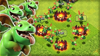 50 Baby Dragons vs TH11 | Clash of Clans
