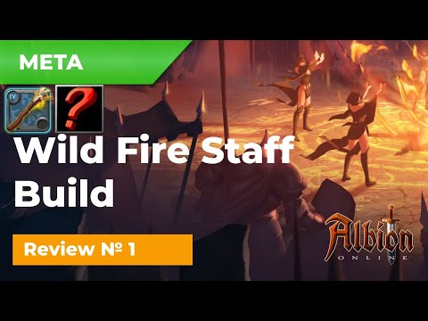 Review on META Wild Fire Staff №1 Build for SOLO gameplay in Albion Online!
