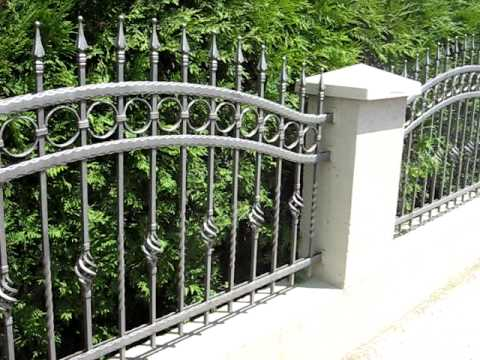 Homemade Wrought Iron Fence Youtube