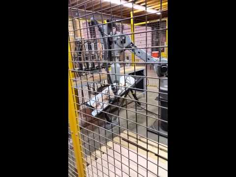 Motoman Robot At Loudoun Stairs, Inc   Drilling Holes In Risers   Duration:  2 Minutes, 42 Seconds.