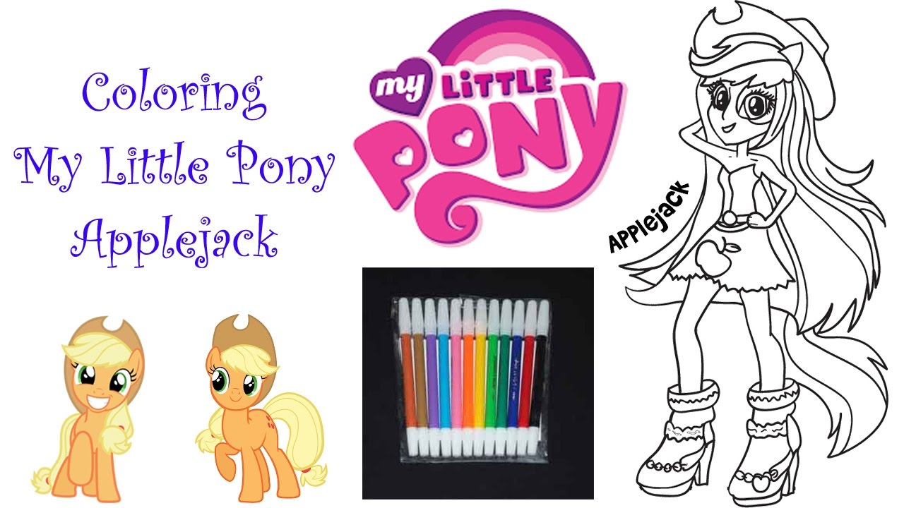 Coloring My Little Pony Applejack Mewarnai Applejack