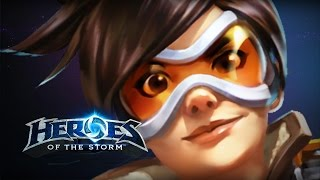 ♥ Heroes of the Storm (Gameplay) - TRACER IS BACK1!!!!!111!!11!!