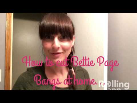 How I cut my bangs Bettie Page style