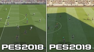 PES 2018 vs PES 2019 | COMPARACIÓN GAMEPLAY