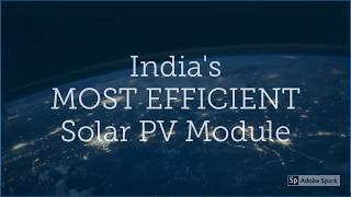 DESERV Extreme - India's most efficient Solar PV Module