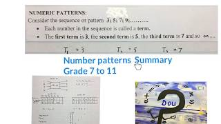 Number Patterns Summary (mathdou)