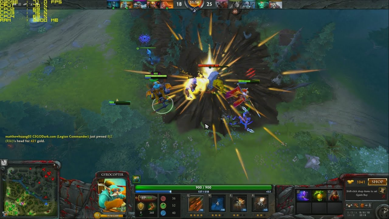 Dota 2 R7 360 Gameplay FPS Test
