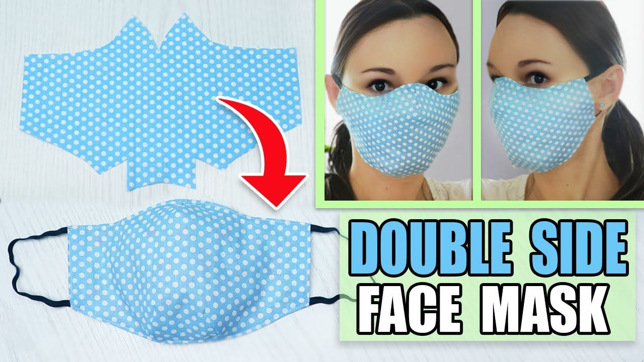DIY FACE MASK TO PROTECT FROM VIRUS STEP BY STEP TUTORIAL WITH MEASUREMENTS