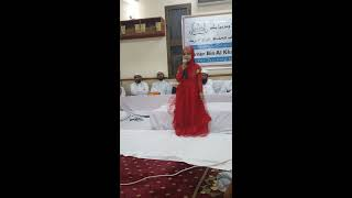 Aysha naba a little girl reading Asma ul husna in madrasa umer bin khattab , Dubai