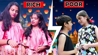 Diwali Special Rich Vs Normal l Moral Stories in hindi lStories for family| Ayu And Anu Twin Sisters