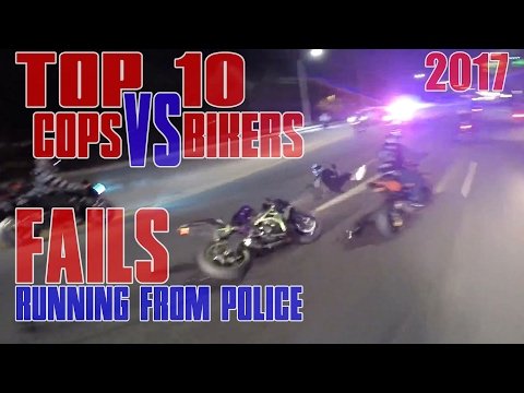 TOP 10 Bikers VS Cops Motorcycle Police...