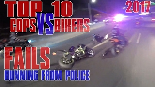 TOP 10 Motorcycle VS Police Chase FAIL Compilation 2016 Cop WINS Bike FAILS Running From Cops