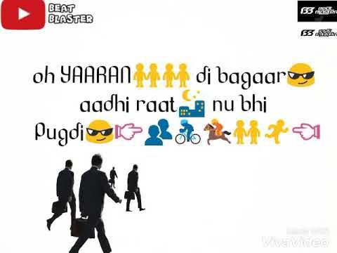YAARAN DA GROUP | Dilpreet Dhillon | Parmish Verma | Whatsapp Status Video | Beat Blaster