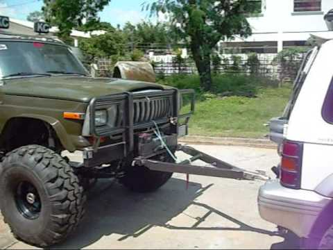 flat tow of a jeep cherokee after a pajero on may 09 2009 youtube. Black Bedroom Furniture Sets. Home Design Ideas
